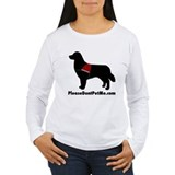 Please Don't Pet Me Dog Logo T-Shirt