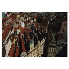 High angle view of a cityscape, Prague Old Town Sq