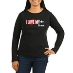 I Love My Airman Women's Long Sleeve Dark T-Shirt