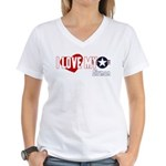 I Love My Airman Women's V-Neck T-Shirt