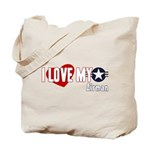 I Love My Airman Tote Bag