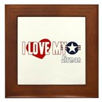 I Love My Airman Framed Tile