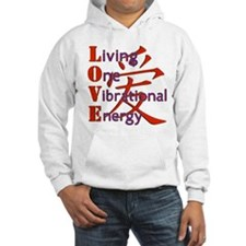 Living, One,Vibrational,Energy Hoodie