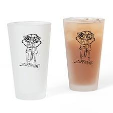 Zombie Nerd. Alternate Drinking Glass