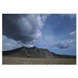 Storm clouds over a desert, Inyo Mountain Range, C