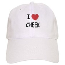 I heart cheek Baseball Cap