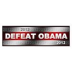 Defeat Obama Sticker (Bumper 50 pk)