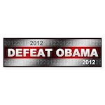 Defeat Obama Sticker (Bumper)