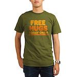 Free Hugs Organic Men's T-Shirt (dark)