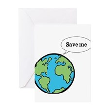 Save me says Earth Greeting Card