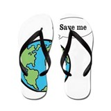 Save me says Earth Flip Flops