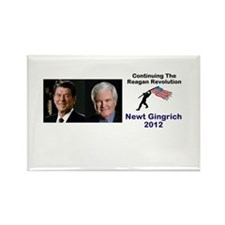 Newt Reagan Revolution Rectangle Magnet