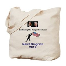 Newt Reagan Revolution Tote Bag