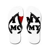 I LOVE MY MOMMY MOM SHIRT MOT Flip Flops