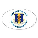 33rd Fighter Wing with Text Decal