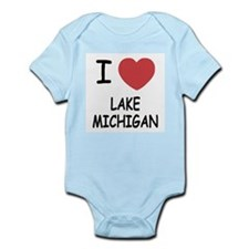 I heart lake michigan Infant Bodysuit