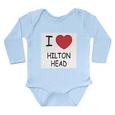 I heart hilton head Long Sleeve Infant Bodysuit