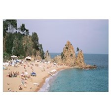 Spain, Costa Brava Region, Tossa De Mar, Crowded s