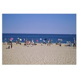 Tourists on the beach, East Hampton, Long Island,