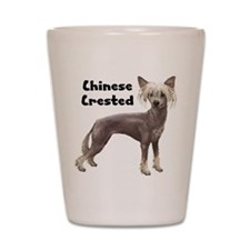 Chinese Crested Shot Glass