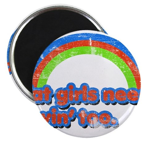Fat Girls Lovin' (Retro Wash) Magnet