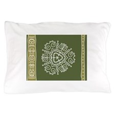 Green Tribal Pillow Case