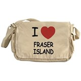 I heart fraser island Messenger Bag