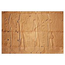 Close-up of hieroglyphics, Luxor, Egypt