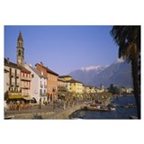 Buildings at the waterfront, Lake Maggiore, Ascona