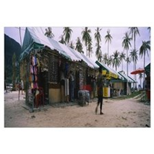 Market stalls on the beach, Ko Phi Phi Don, Phi Ph