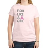 Cute Breast cancer i fight like a girl T-Shirt