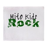 Mito Kids Rock Throw Blanket