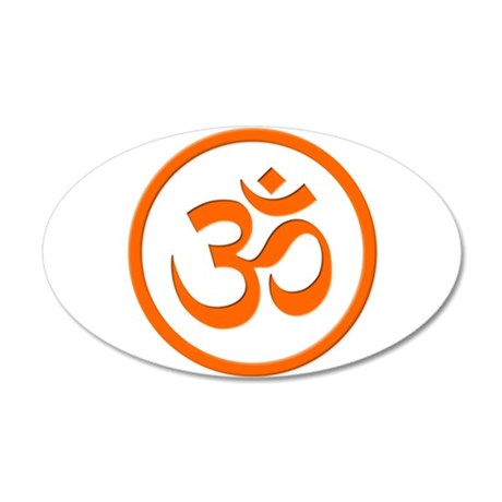 Om or Aum 22x14 Oval Wall Peel