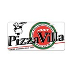 Pizza Villa Aluminum License Plate