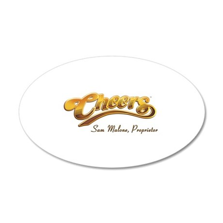 Cheers Sam Malone 38.5 x 24.5 Oval Wall Peel