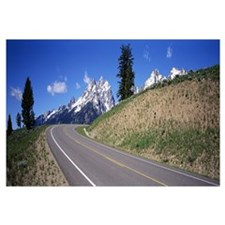 Curved Road Grand Teton National Park WY