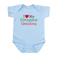 I Love Portuguese Grandma Infant Bodysuit