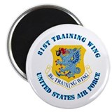 "81st Training Wing with Text 2.25"" Magnet (10 pack"