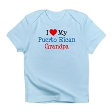 I Love Puerto Rican Grandpa Infant T-Shirt