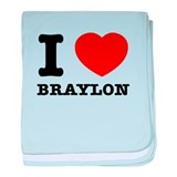 I love Braylon baby blanket
