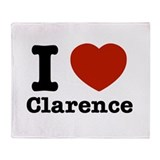 I love Clarence Throw Blanket