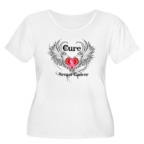 Cure Breast Cancer Women's Plus Size Scoop Neck T-