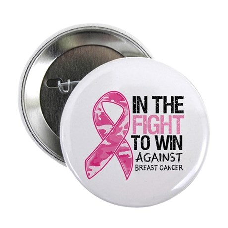 "Fight Win Breast Cancer 2.25"" Button (100 pack)"