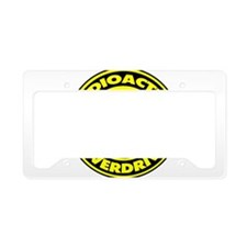Radioactive Overdrive Logo License Plate Holder