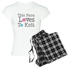 Nana Loves Knitting pajamas