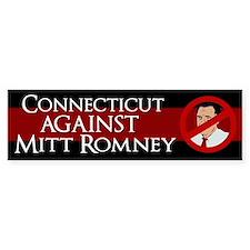 Connecticut Against Mitt Romney sticker
