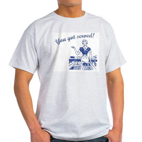 You Got Served (Retro Wash) Ash Grey T-Shirt
