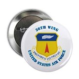"36th Wing with Text 2.25"" Button (100 pack)"