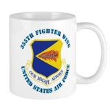 355th Fighter Wing with Text Small Mug