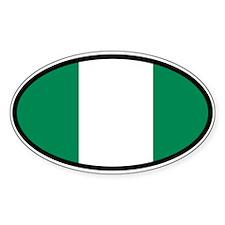 Nigeria Nigerian Flag Car Bumper Sticker Decal Ova